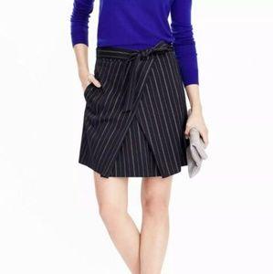 NWT Banana Republic Navy Striped Tied Skirt